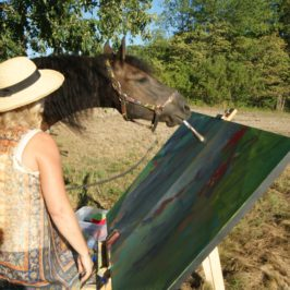 Paint with Justin The Artistic Horse at ARTFEST