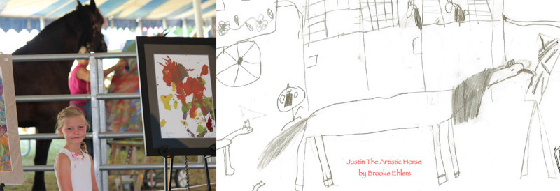 Justin The Artistic Horse Inspires Young Artists
