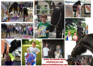 Justin The Artistic Horse collage