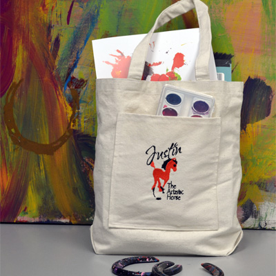 Artistic Horse Tote- large