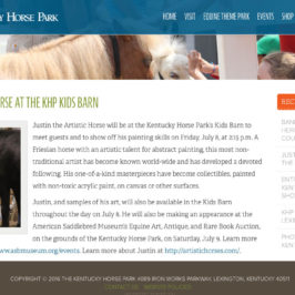 Justin The Artistic Horse at KHP Kids Barn